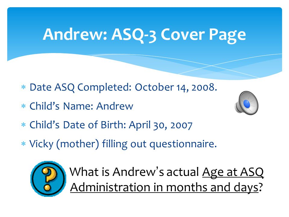 Andrew: ASQ-3 Cover Page