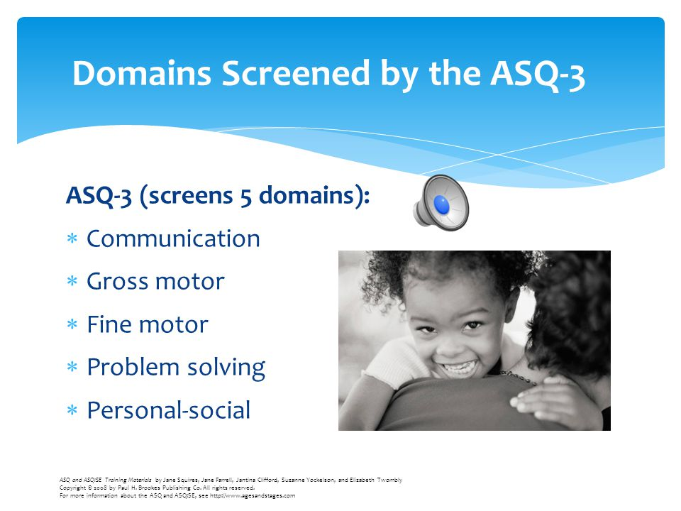Domains Screened by the ASQ-3