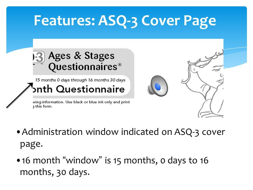 Features: ASQ-3 Cover Page