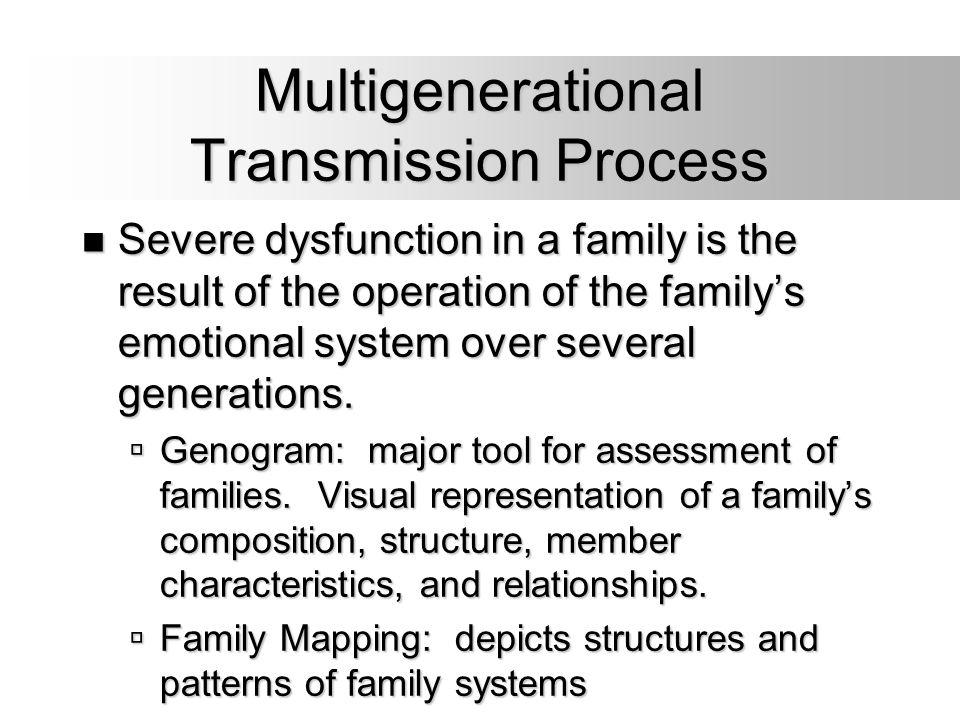 Multigenerational Transmission Process