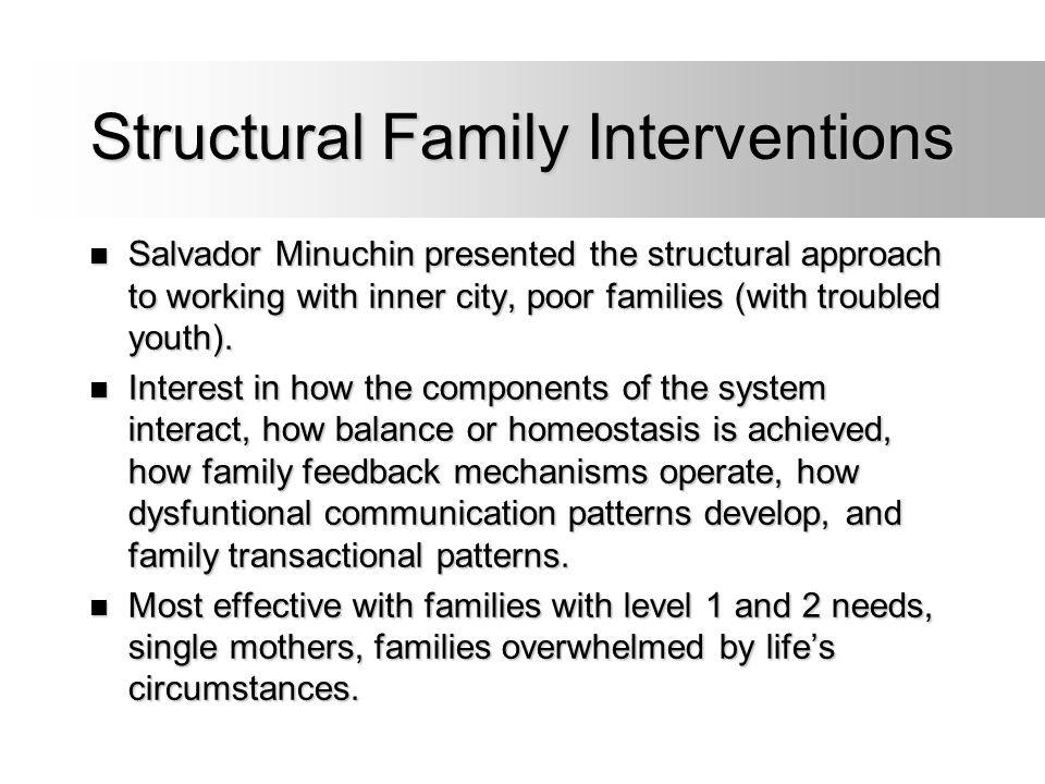 Structural Family Interventions