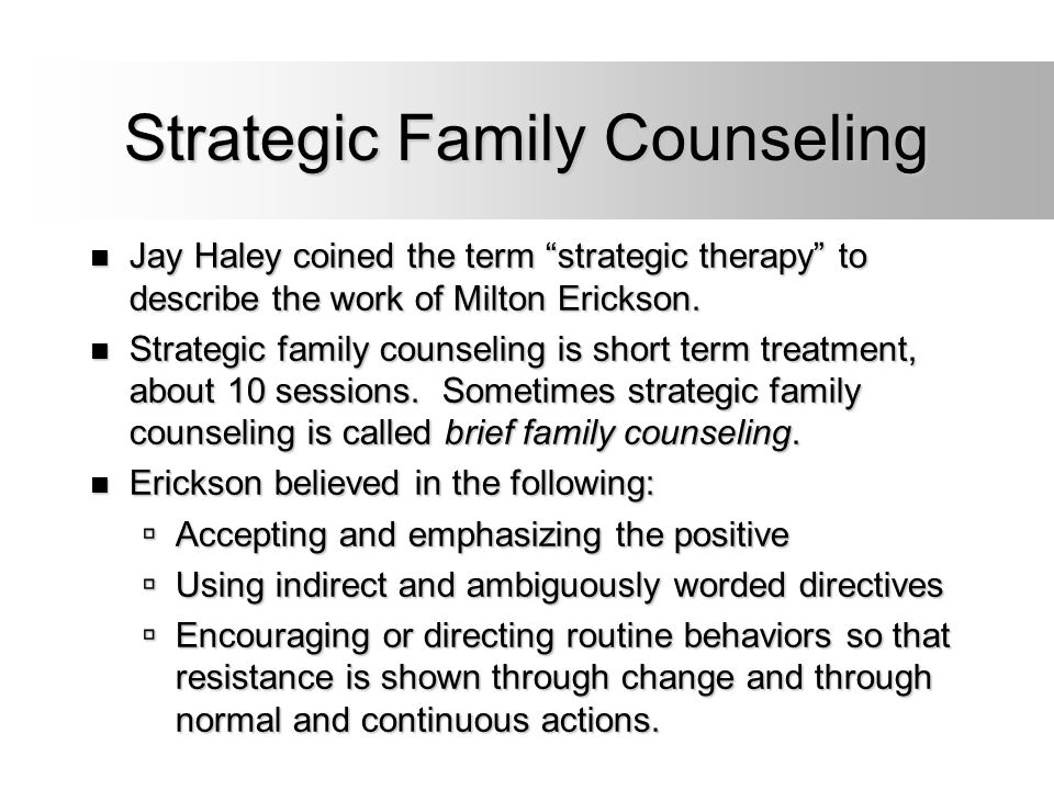 Strategic Family Counseling