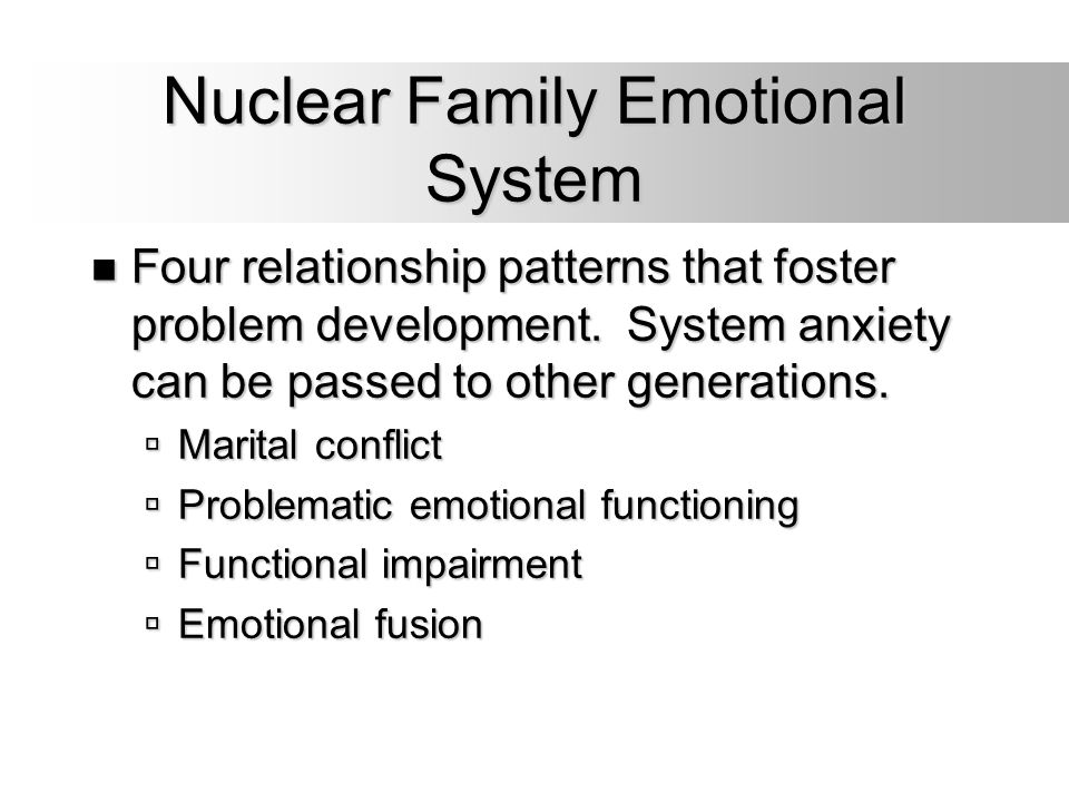 Nuclear Family Emotional System