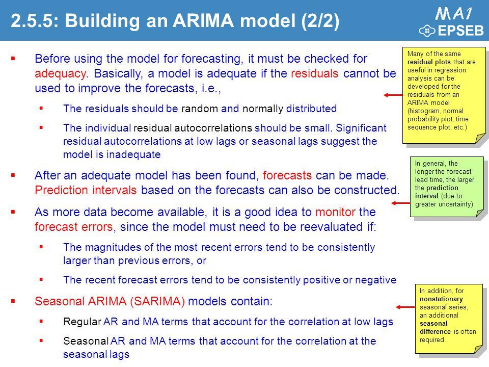 2.5.5: Building an ARIMA model (2/2)