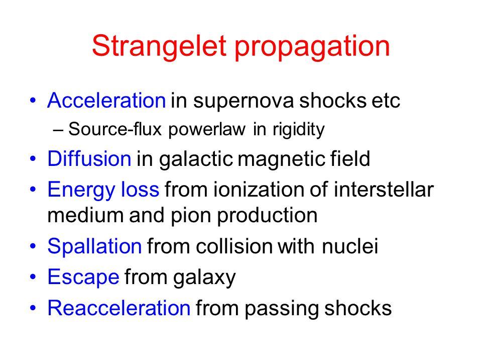 Strangelet propagation