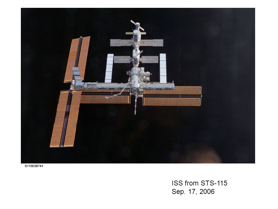 ISS from STS-115 Sep. 17, 2006