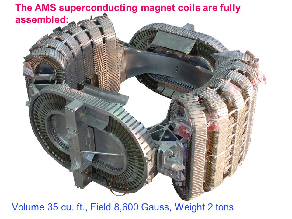 The AMS superconducting magnet coils are fully assembled: