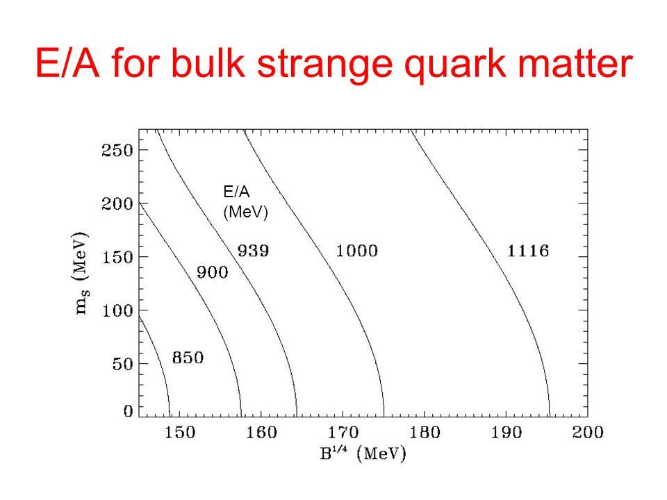E/A for bulk strange quark matter