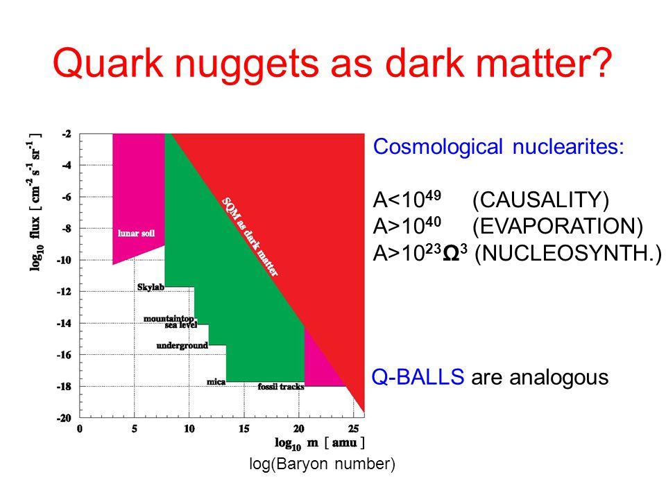 Quark nuggets as dark matter