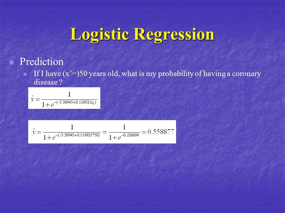 Logistic Regression Prediction