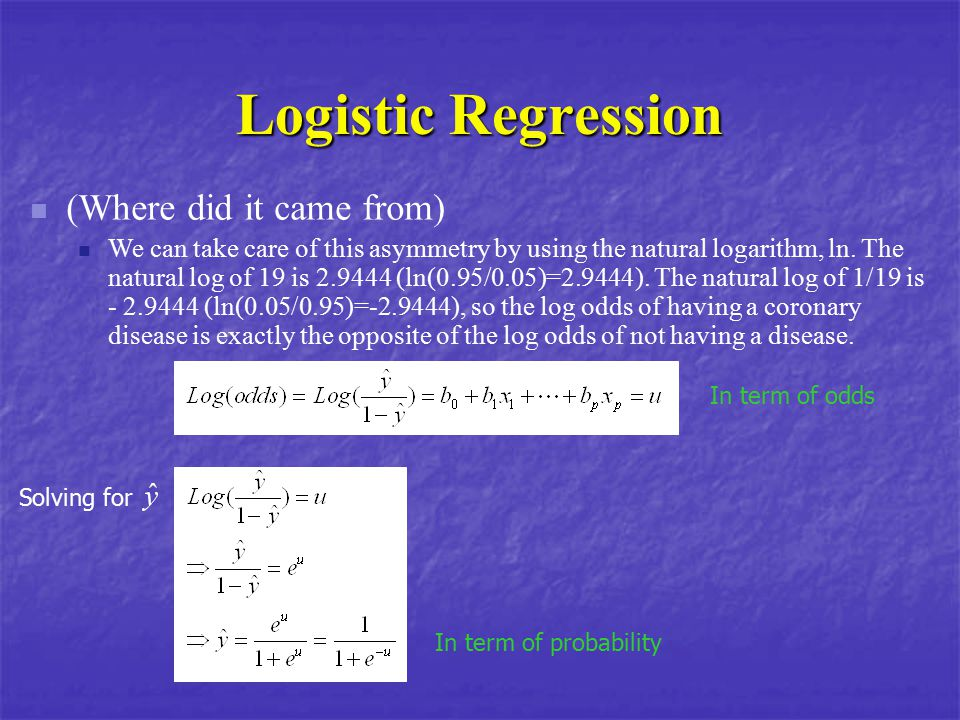 Logistic Regression (Where did it came from)
