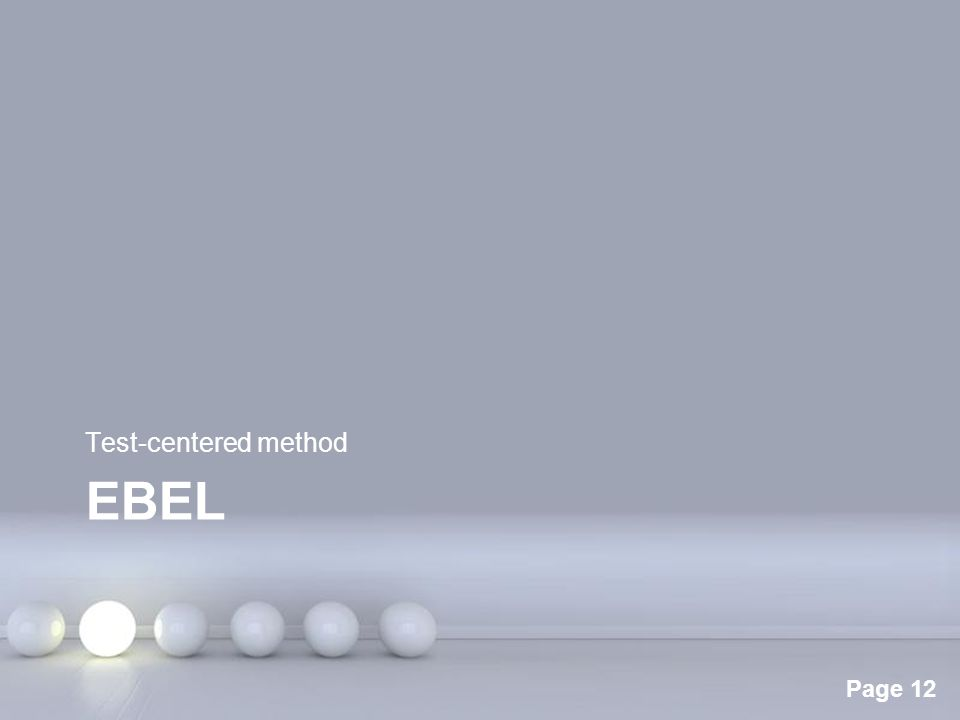 Test-centered method Ebel