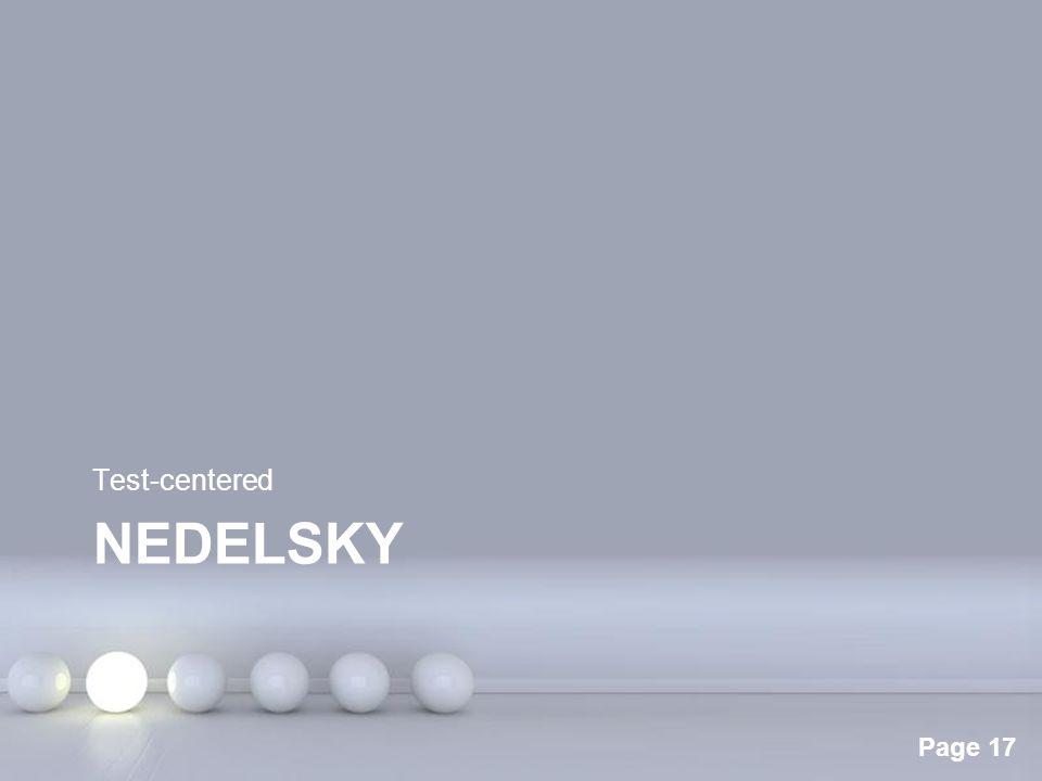 Test-centered Nedelsky