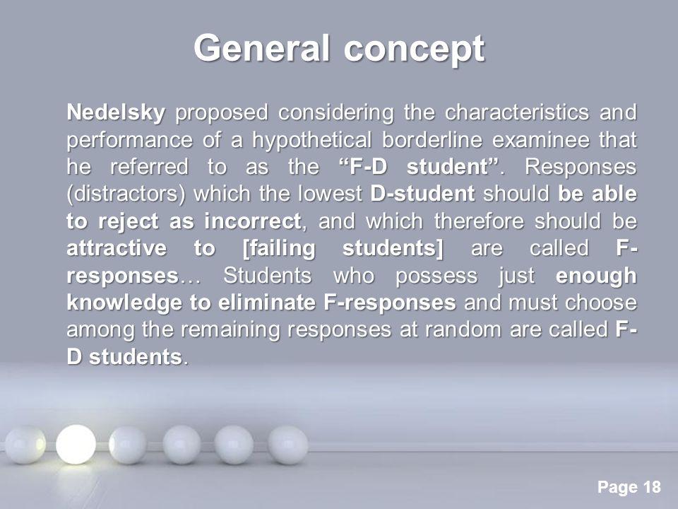 General concept