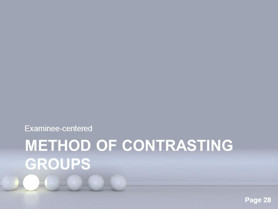 Method of contrasting groups