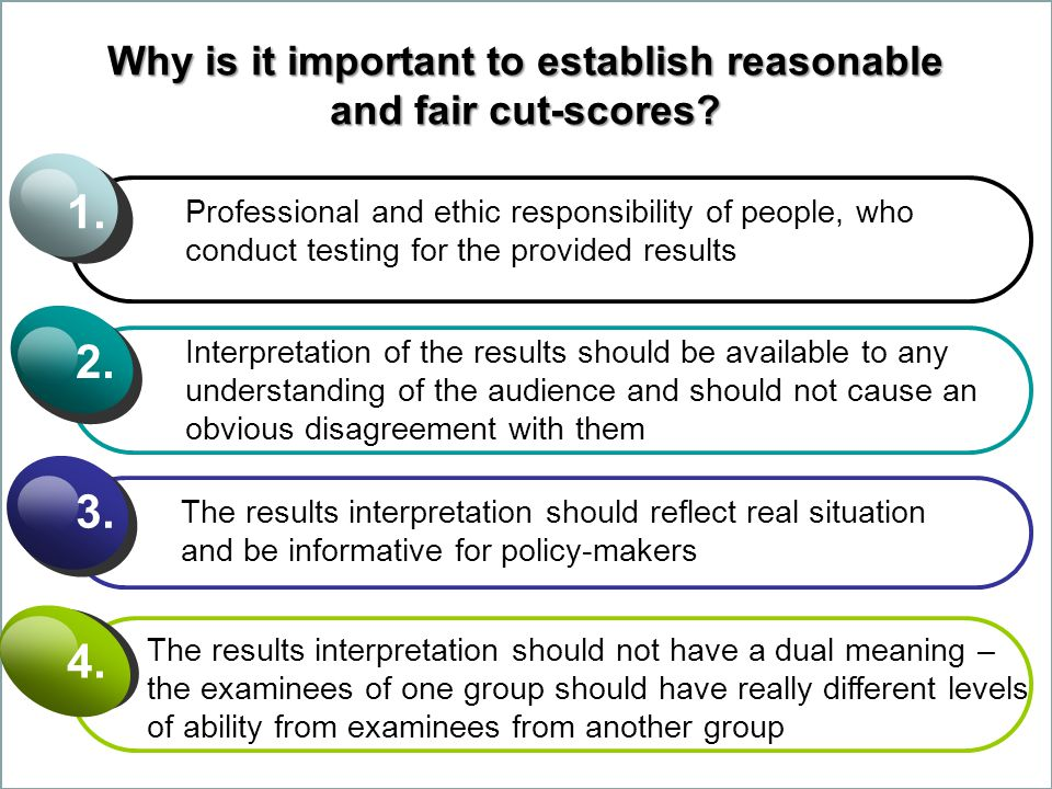 Why is it important to establish reasonable and fair cut-scores