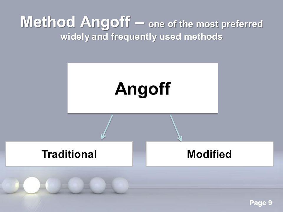 Method Angoff – one of the most preferred widely and frequently used methods