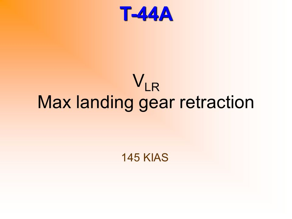 VLR Max landing gear retraction