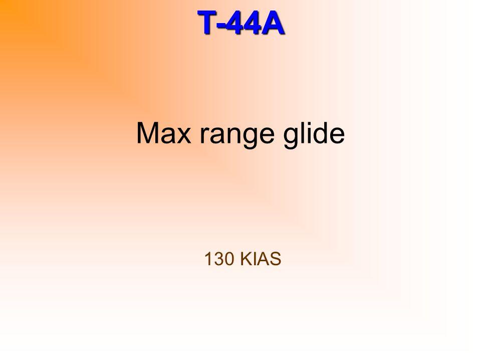 Max range glide 130 KIAS