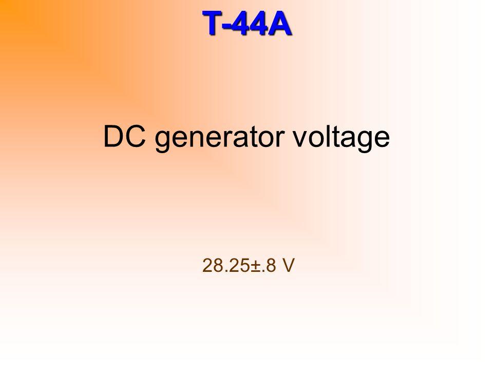 DC generator voltage 28.25±.8 V
