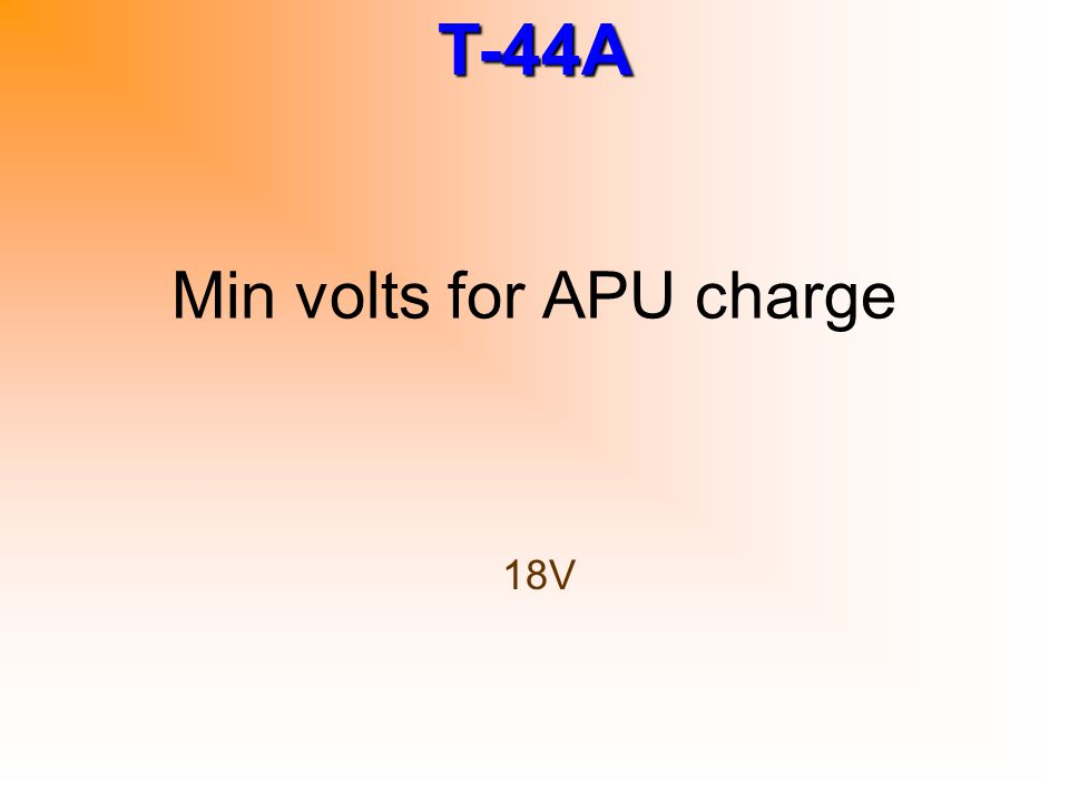 Min volts for APU charge