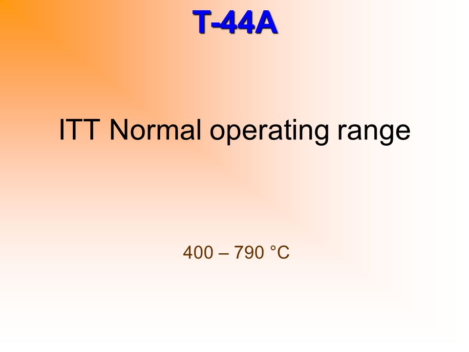 ITT Normal operating range