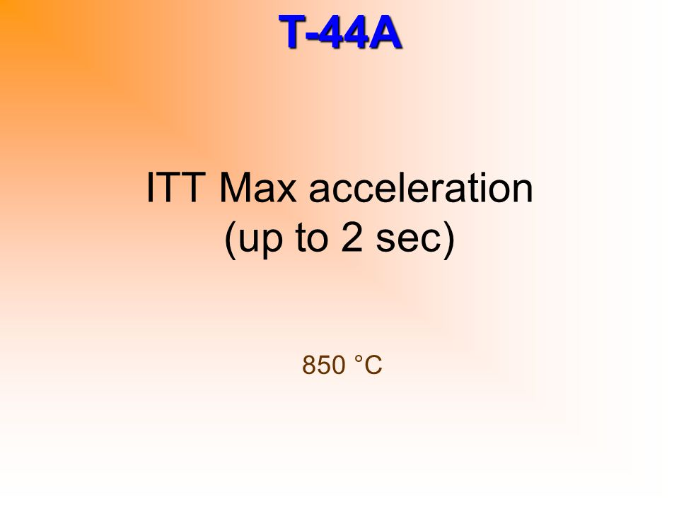 ITT Max acceleration (up to 2 sec)