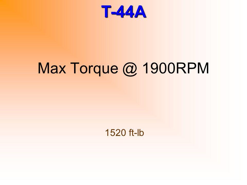 Max Torque @ 1900RPM 1520 ft-lb