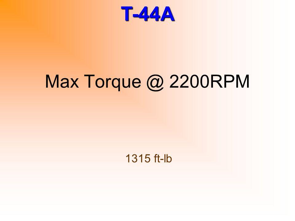 Max Torque @ 2200RPM 1315 ft-lb