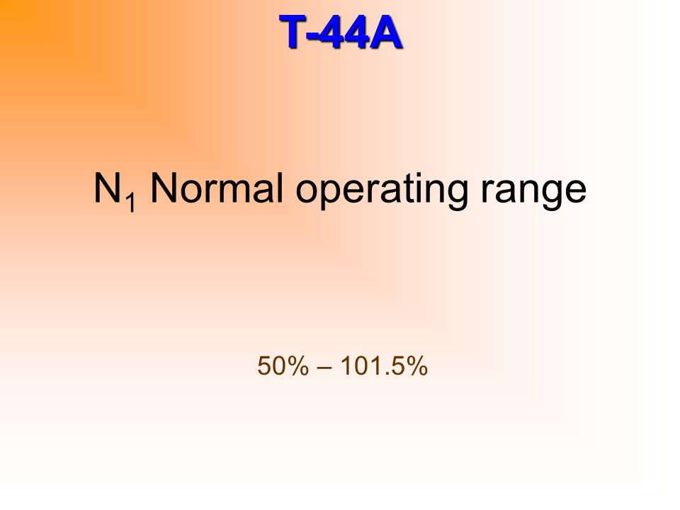 N1 Normal operating range