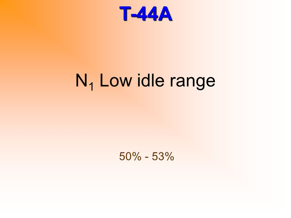 N1 Low idle range 50% - 53%