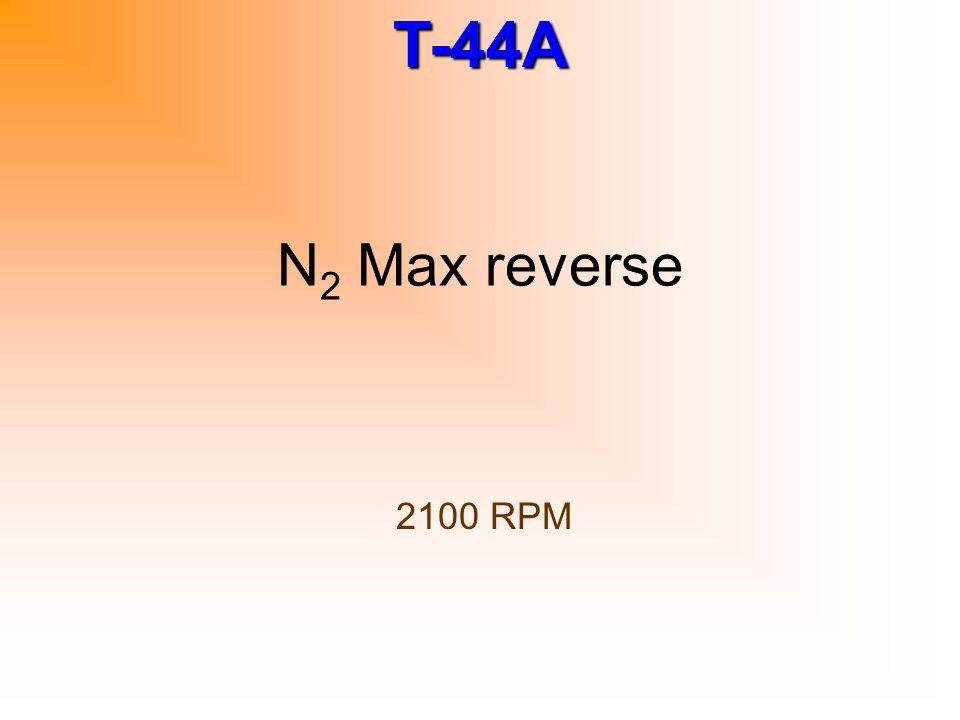 N2 Max reverse 2100 RPM
