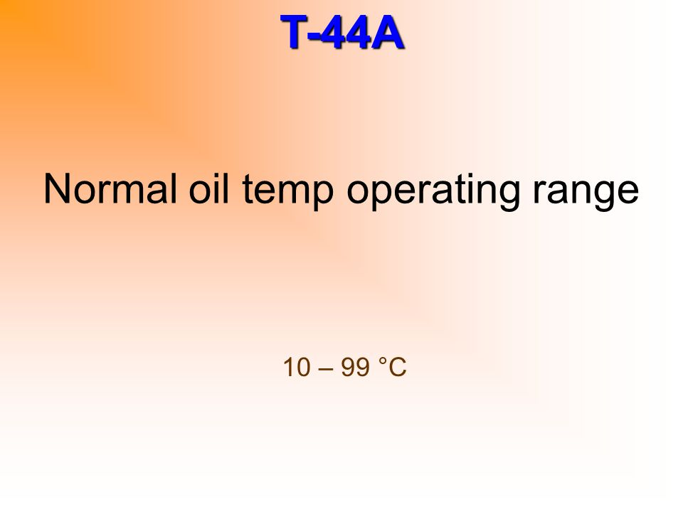 Normal oil temp operating range