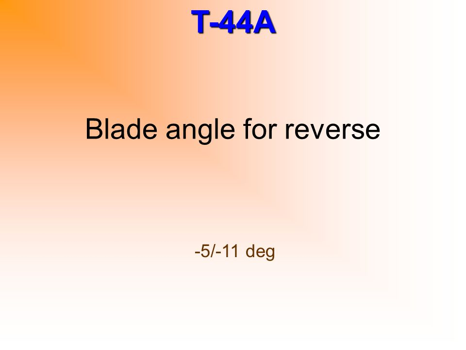 Blade angle for reverse