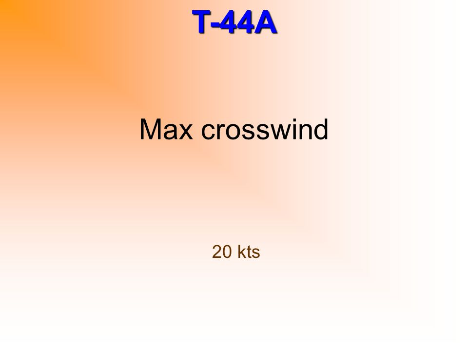 Max crosswind 20 kts
