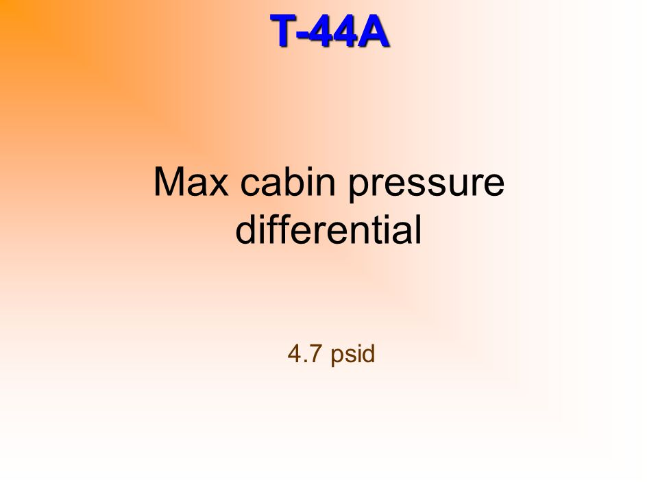 Max cabin pressure differential