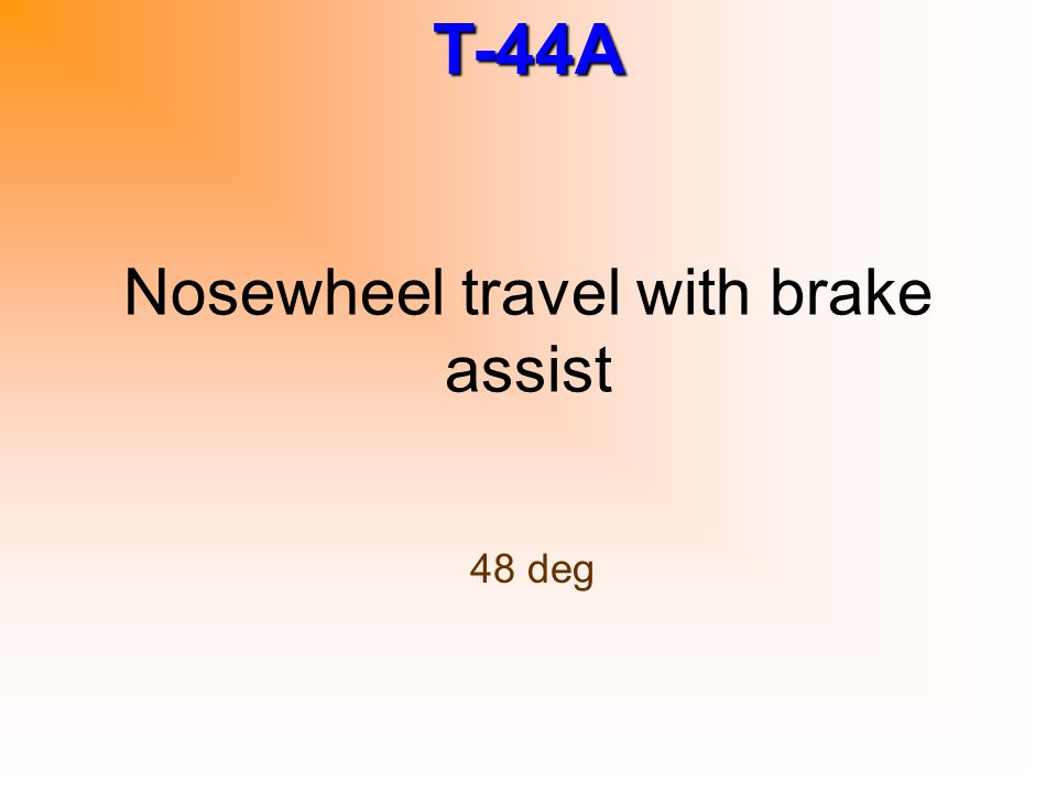 Nosewheel travel with brake assist