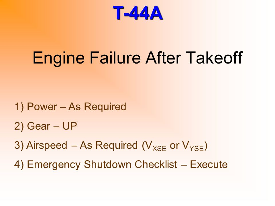Engine Failure After Takeoff