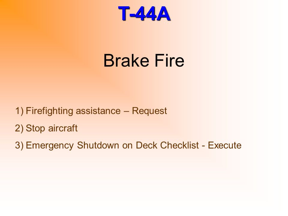 Brake Fire Firefighting assistance – Request Stop aircraft