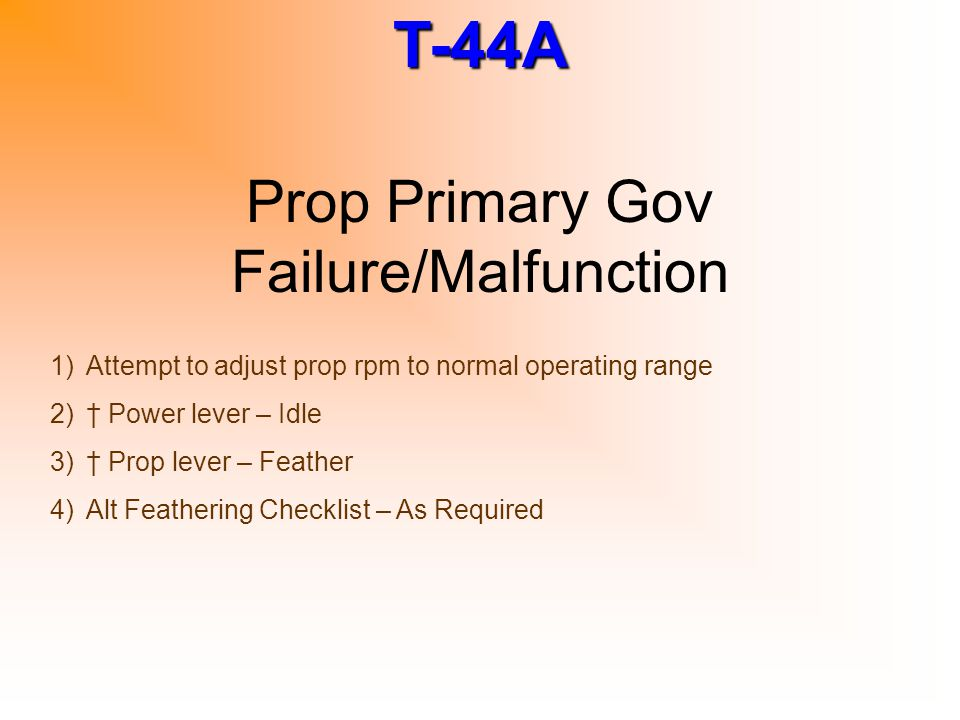 Prop Primary Gov Failure/Malfunction