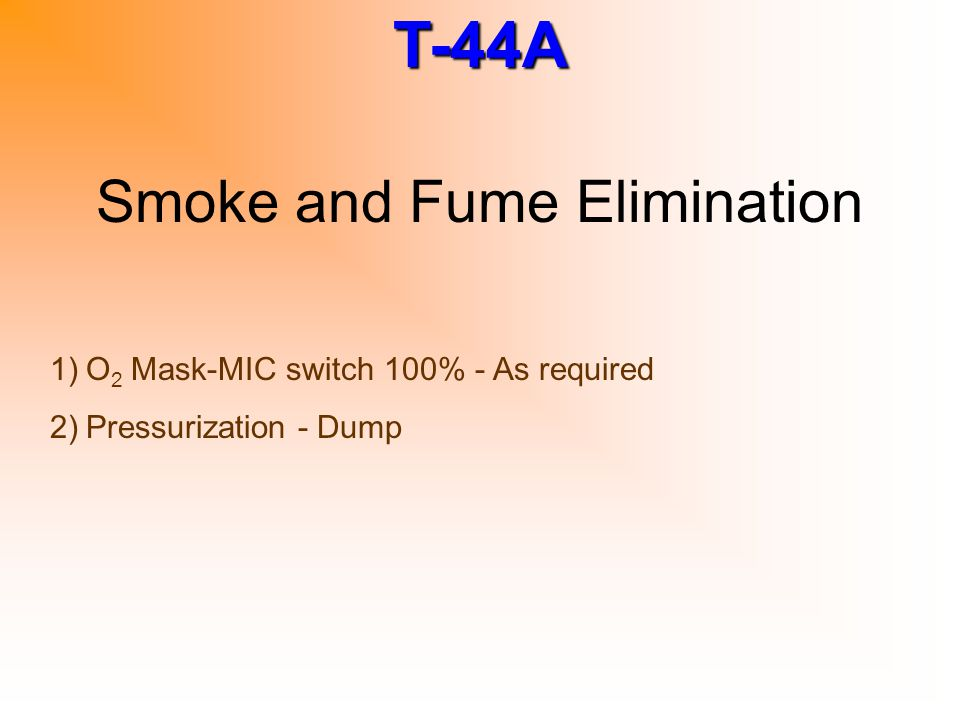 Smoke and Fume Elimination