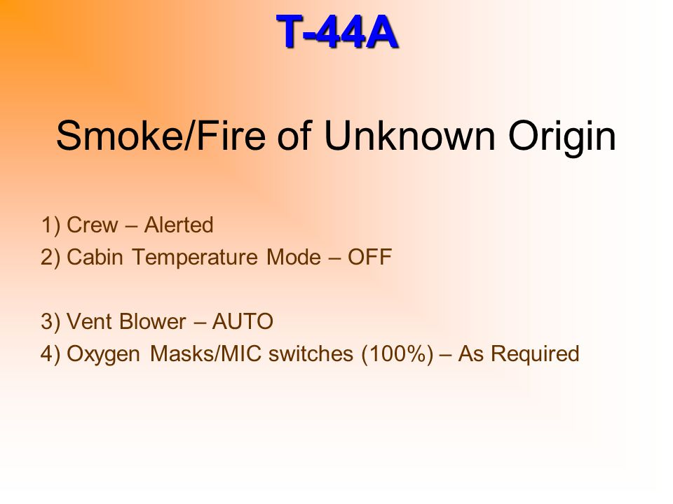 Smoke/Fire of Unknown Origin