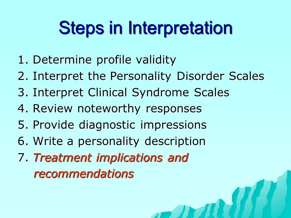 Steps in Interpretation