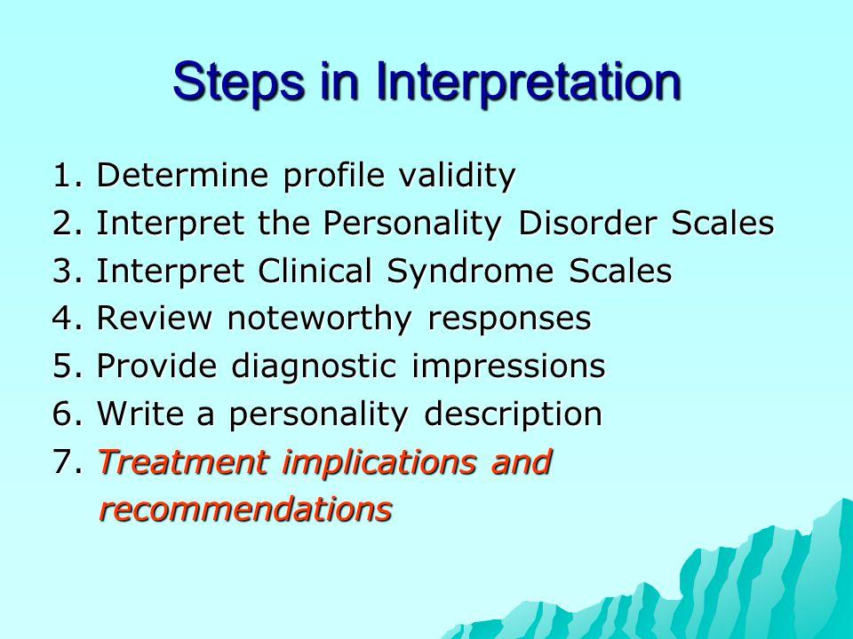Steps in Interpretation