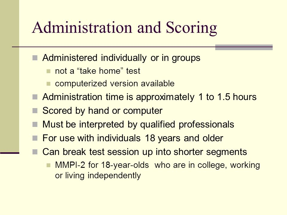 Administration and Scoring