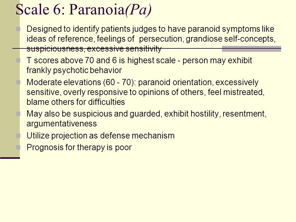 Scale 6: Paranoia(Pa)