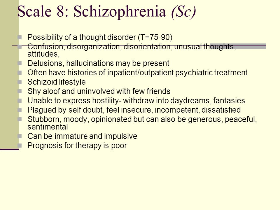 Scale 8: Schizophrenia (Sc)