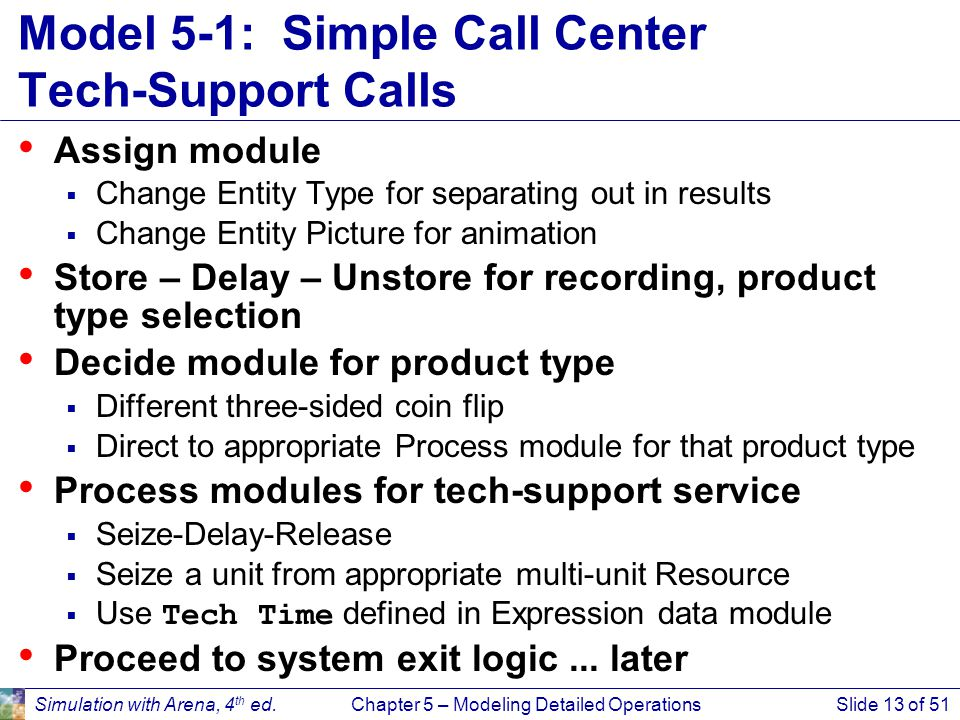 Model 5-1: Simple Call Center Tech-Support Calls