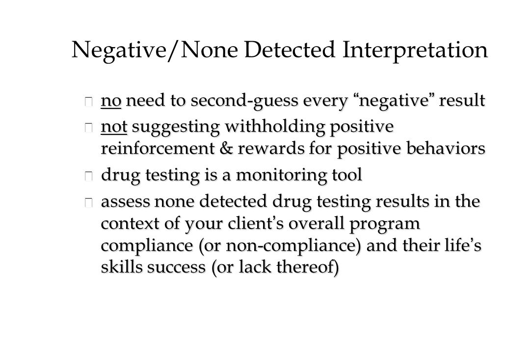 Negative/None Detected Interpretation