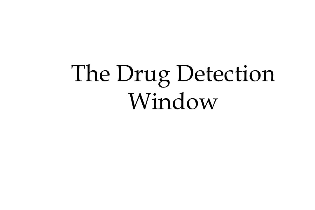 The Drug Detection Window